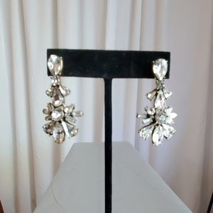 J. Crew Clear Gem Pierced Earrings